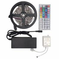 Cheap 10M SMD 5050 RGB LED Flexible Strip Light Kit 150LEDs 30LEDs/M with 44Keys IR Remote Controller with DC 12V Power Supply for sale