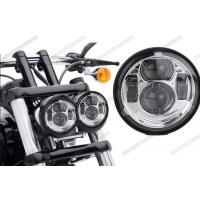 Cheap Waterproof Motorcycle Driving Lights , 5 Inch Round LED Headlights High Low Beam For Jeep for sale