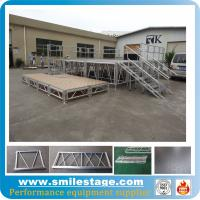 Cheap Aluminum portable stages with adjustable stage legs for catwalk show for sale