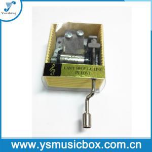 Cheap Yunsheng Metal 18 Tune Hand-crank Paper music box PVC sleeve(YH2J/N-01) for sale