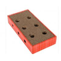 Flat Horizontal Cat Scratcher OEM 100% Eco - Friendly With Longer Scratching Life
