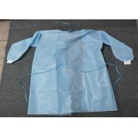 Cheap Knit Cuff Breathable Disposable Coverall Suit Gown Level 1/2/3 White Blue Yellow for sale