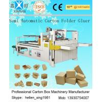 Cheap Siemens Electric Carton Making Machine of Semi-Auto Folder Gluer 4KW 5300mm Length for sale