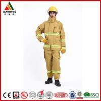 Cheap Heat Insulation Firefighter Uniform / Firefighting Fire Suit Antistatic and Waterproof for sale