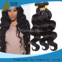 Durable 3 Bundles Virgin Indian Hair , Peruvian Weaving Human Hair Weave
