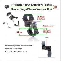Cheap Low Profile Rifles Tactical Scope Rings With Picatinny Rail , Hunting Gun Accessories for sale