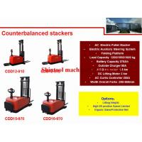 Cheap 1.2T 270Ah Electric Pallet Stacker 1179mm Wheel Base With 500mm Load Center for sale