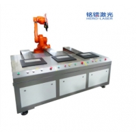 Cheap Accurate PLC Control IPG Robot Laser Welding Machine Three Position for sale