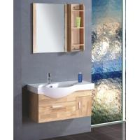 Single ceramic sink thin bathroom vanity , contemporary bathroom vanity cabinets colors available Manufactures