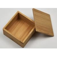 Cheap Small Natural Storage Bamboo Gift Box With Custom Logo For Packaging for sale