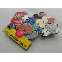 Cheap NBC Camera Crew Disney Pin Badge by Zinc Alloy, Synthetic Enamel, Black Nickel, Glitter Filled for sale