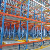 Cheap Multi Tier Pallet Live Racking Powder Coating Surface With Rollers / Rails for sale
