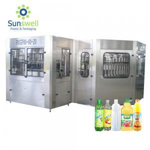 Cheap 5000 BPH  Bottled Hot Filling Machine Beverage Or Juice Rinsing Sealing 3 In 1 Monoblock for sale