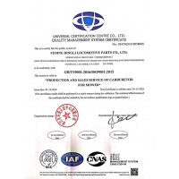 FUDING DINGLI MOTORCYCLE PARTS CO.,LTD Certifications