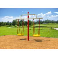 Cheap Childrens Double Swing Set / Playground Swing Sets With Bold Beam Comfortable Chair for sale