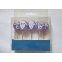 Purple Birthday Gift Wax Pick Candles , Lovely Sheep Shape Paraffin Candle Manufactures