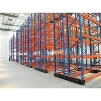Cheap Multi Level Movable Shelving System , Heavy Duty Mobile Racking System Customized Color for sale