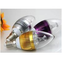 Cheap 3pcs * 1W E27 Aluminum LED Candle Bulbs Epistar Chip With PC Cover for sale