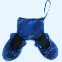 Cheap Discount Cheap Price from China Wholesale Navy Blue Roll Up Driving Shoes with Printing Logo in a Bag for sale