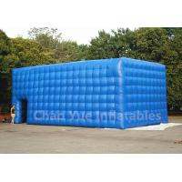 Cheap PVC Tarpaulin Blue Inflatable Cube Tent for outdoor event for sale
