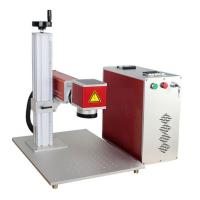 Cheap 0.5MM Depth IPG Mini Laser Engraver Machine 7000MM Marking Speed For Metal for sale