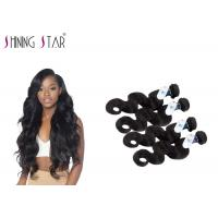 Cheap Peruvian Body Wave Unprocessed Remy Hair Weave For America Girls No Tangle for sale