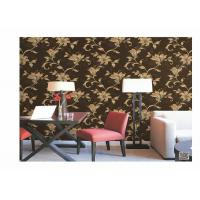 Cheap Home Decoration PVC Embossed Wallpaper Waterproof With European Flower for sale