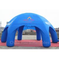 Cheap 32x16ft Blue Inflatable Dome Tent for sporting events for sale