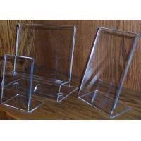 China acrylic sign holder stand counter display stand table stand on sale