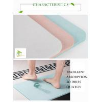 Buy cheap diatomaceous earth bath mat highly absorbent anti-slip diatomite mat eco from wholesalers