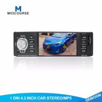 Cheap Commercial 1 Din Bluetooth Car Stereo 4.1 Inch With USB / AUX / SD for sale