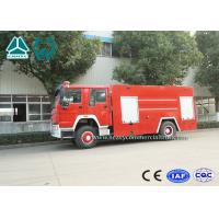 Cheap Emergency Rescue Fire Fighting Truck 4 X 2 Red Color 16 Ton Crane Capacity for sale