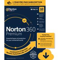Cheap 1 Year Subscription PC Antivirus Software 10 Device PC MAC NORTON 360 Premium for sale
