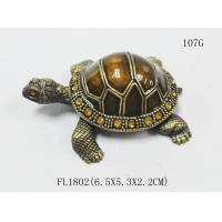 China Home Decor Sea Turtle Enameled Trinket Boxes painted turtle trinket box on sale