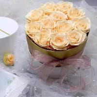 Cheap Valentine's day Christmas preserved fresh flower gifts wholesale preserved rose gift box holding bucket for sale