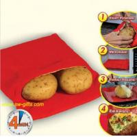 China NEW Red Washable Cooker Bag Baked Potato Microwave Cooking Potato Quick Fast cooks 4 potat on sale