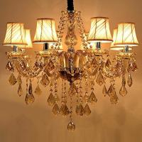 Chandelier Wall Light With Switch : Modern Candle Chandelier Wrought Cognac LED Crystal Chandelier Lighting Fixture Switch Control ...