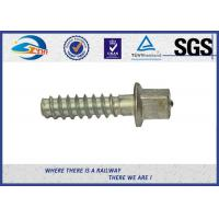 ASTM Standard Hot Dip Galvanized Railway Sleeper Fixing Screws / Rail Road Spikes Manufactures
