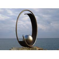 Cheap Stainless Steel Outdoor Garden Sculpture Public Art Sculpture With Sphere for sale