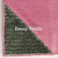 """Cheap Rose color size 12""""100% poly house cleaning cloth, tea towels dry water kitchen dish towels with scrape for sale"""