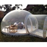 Cheap Outdoor Inflatable Bubble Tent with Single Tunnel for camping for sale