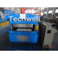 PU Cold Roll Forming Equipment , Roof Panel Roll Forming Machine PLC Electrical Control Manufactures