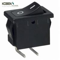 Cheap Black Rocker Switch Parts 2 Pins R1966ABLKBLKFR E- Switch SPST 15A 125V for sale