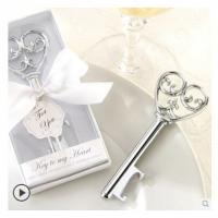 Cheap New creative gift product wedding gift silver city retro key shape bottle opener for sale
