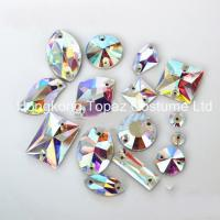 Cheap Flat Back Crystal Glass beads Sew on Rhinestones Wholesale for sale