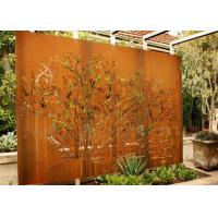 Cheap Customized Corten Steel Metal Tree Wall Art Sculpture For Garden Decoration for sale