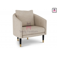 Cheap Wood 0.5cbm Fabric Upholstered Easy Chair 64*60*76cm for sale