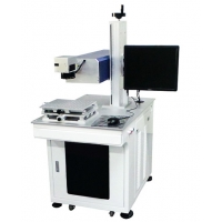 Cheap High Efficiency ISO 5W UV Laser Printing Machine For Glass Plastic metal for sale