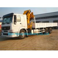 Cheap 4X4  truck mounted crane RHD SINOTRUK with 6ton knuckle boom truck crane for sale