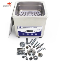 Cheap FCC 100W Stainless Steel Ultrasonic Cleaner 1 Liter For Stones Jewelry for sale